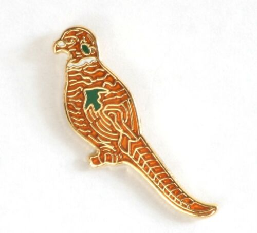 Pheasant Game Shooting  Enamel Tie or Lapel Pin Badge NEW 1st Class POSTAGE