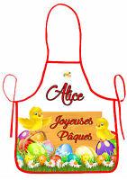 Tablier De Cuisine Enfant Joyeuses Pâques Personnalisable Avec Prénom Réf 40