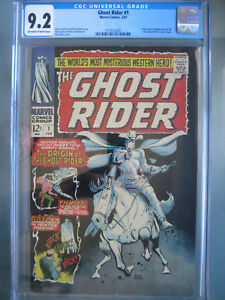 Details about Ghost Rider #1 CGC 9 2 1967 Origin & 1st app New Ghost Rider  (Carter Slade)