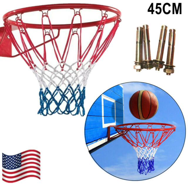 32cm Indoor//Outdoor Wall Mounted Hanging Goal Basketball Hoop Metal For Kids
