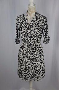 8a99457738931 Merona Womens Small Animal Print 3 4 Sleeve Hi Low Dress V-Neck ...