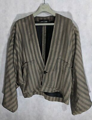 1d1d21d4e Damir Doma SS12 Menswear Runway Gold Stripe Silk Kimono Bomber Jacket 48    eBay
