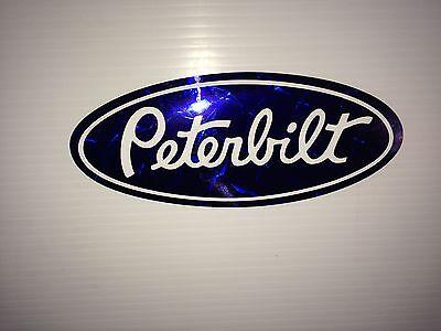 5 Peterbilt Red diamond plate vinyl Grill Hood Decal Emblems 2 trucker girls