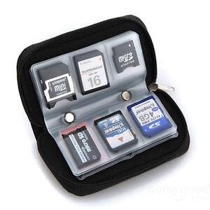 Memory Card Storage Wallet Case Organizer Bag Holder SD Micro 22 Slots Camera
