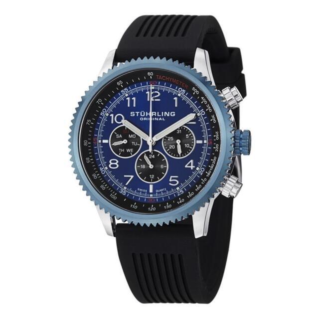 Stuhrling Original Mens 858r 01 Concorso Blue Stainless Steel Watch