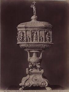 Spoleto Réliquaire Da S.Eutizio Italia Vintage Albumina Ca 1880