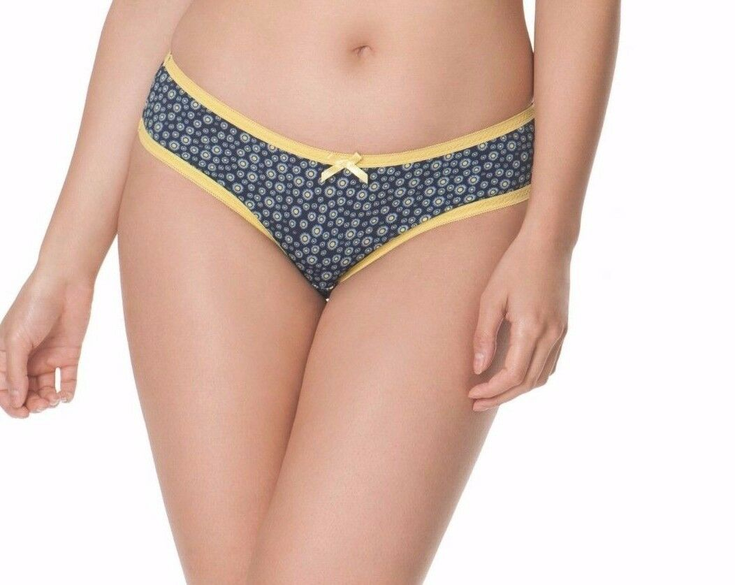 BNWT Myla Isabella Mini Briefs en Extra Large RRP £ 65.00 ivoire//nude