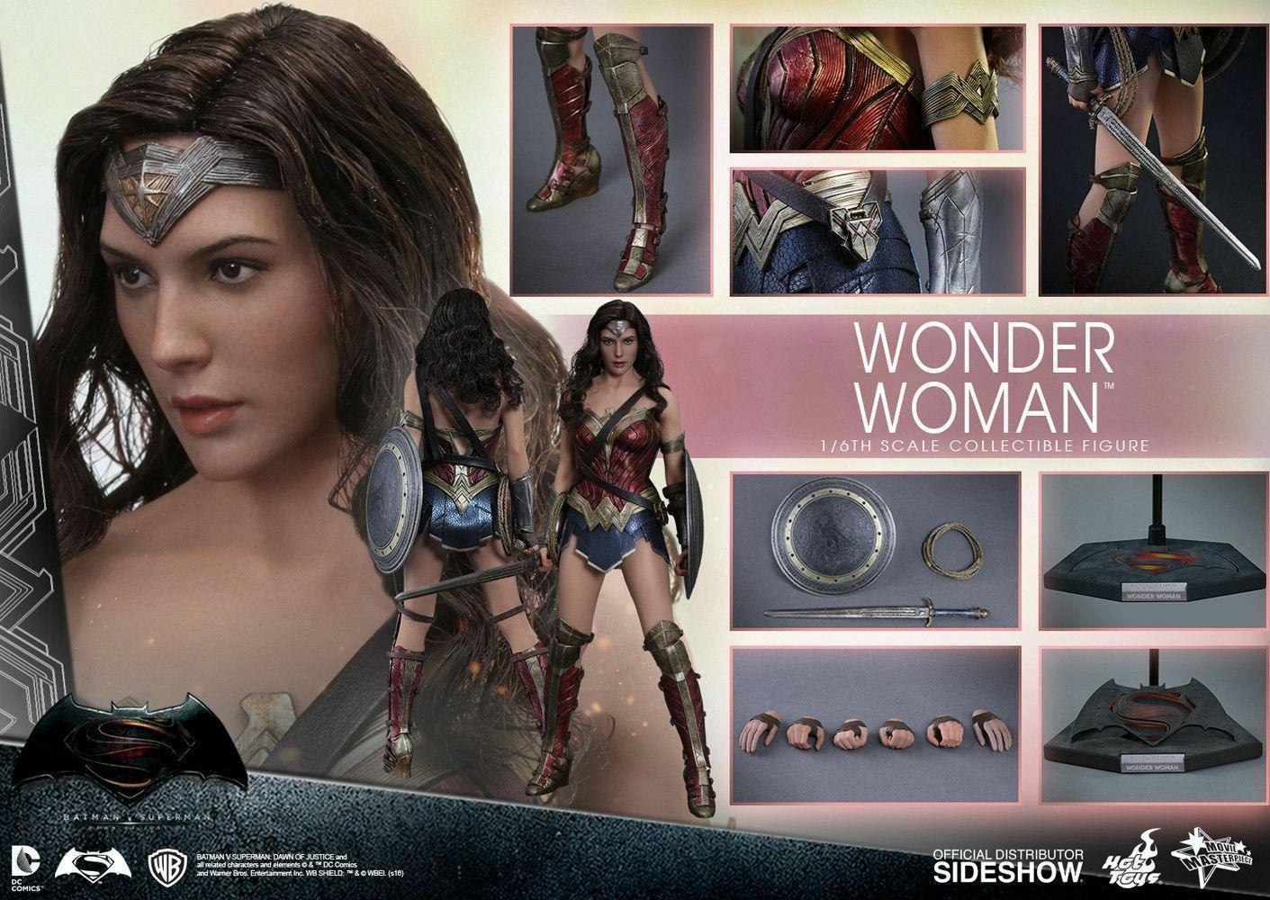 (NEW) Hot Toys Batman vs Superman  Dawn Dawn Dawn of Justice Wonder Woman Action Figure c95f6e