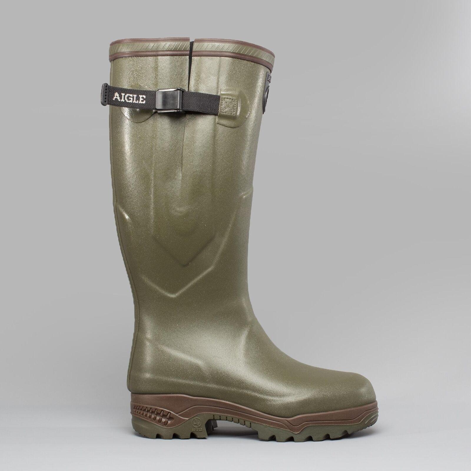 Aigle Parcours 2 ISO Unisex para Hombre Damas Hebilla Wellington botas Caqui Marrón