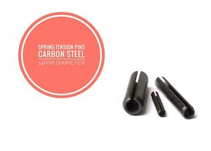 Slotted Spring Tension Pins Sellock Roll Pins Carbon Steel 15mm Diameter DIN1481