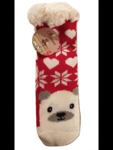 Chaussons chaussette Noël antidérapantes avec doublure polaire douce