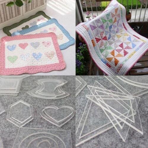 1set 54PCS Mixed Patterns Acrylique Style À faire soi-même Outils pour patchwork quilting tissu