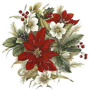 Red Geranium Flowers Select-A-Size Waterslide Ceramic Decals Bx