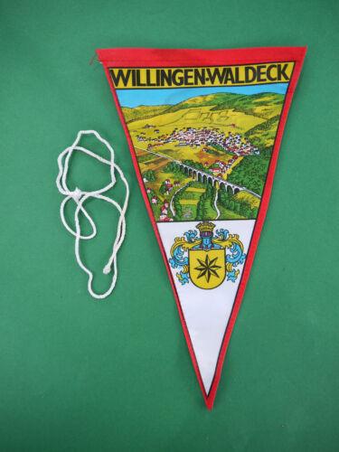 Wimpel Willingen Waldeck Souvenir Werbung 15 x 26,5 cm Upland Hessen