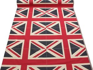 england flagge retro schwer leinen aussehen polster baumwolle panel stoff ebay. Black Bedroom Furniture Sets. Home Design Ideas
