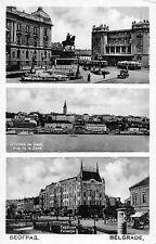 AK Belgrade Terazije Monument Prince Michel Serbien Postkarte vor 1945