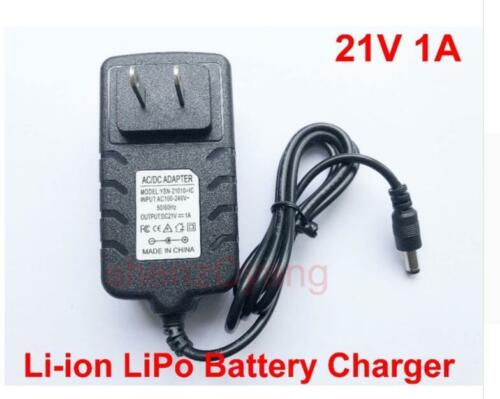 New US plug 21V 1A 1000mA charger adapter adaptor for Lithium Ion Battery Li-ion