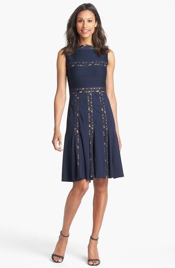 Tadashi Shoji Lace Inset Jersey Fit & Flare Dress (Größe XL)