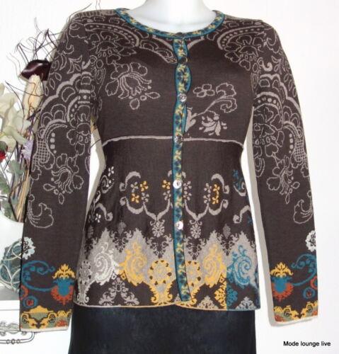 En Ivko Strickjacke Renaissance Extra Cardigan Mérinos 32506 Laine Brun gq6wSZqA7