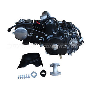 black 125cc 4 stroke auto w reverse engine motor for 50 90. Black Bedroom Furniture Sets. Home Design Ideas