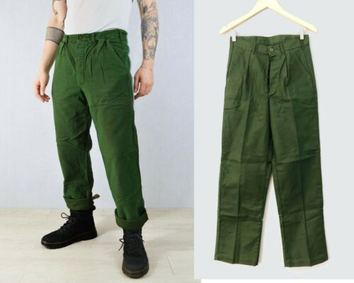 Trousers All Sizes Vintage Mens 60s Swedish Utility Workwear Chore Pants