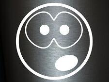 1 x 2 Plott Aufkleber Erstaunter Smiley Shock Shocker Smile Sticker Static Fun
