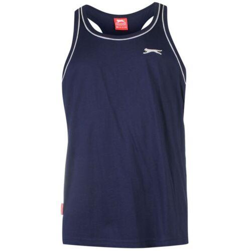 Mens Branded Slazenger Lightweight Sleeveless Racer Back T Shirt Vest Size S-4XL