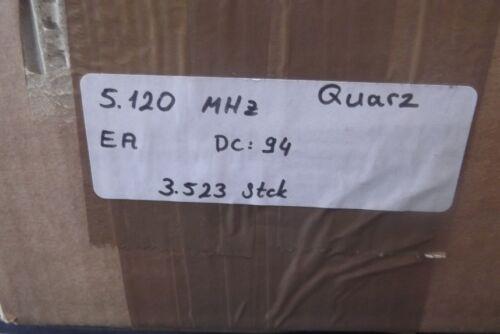 50 Stück Quarz Oszillatoren   5.120  MHZ