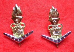 Royal Australian Army Educational Corps-Gold and Silver Anod Collar Pair Badges