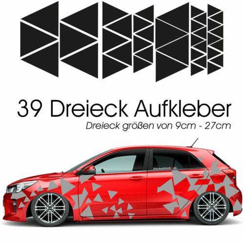 Auto Seitenaufkleber Dreieck Dekor Tarnmuster  in HELLGRAU