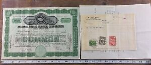 National-Public-Service-Stock-Certificate-Common-Green-1927-Virginia-Papers