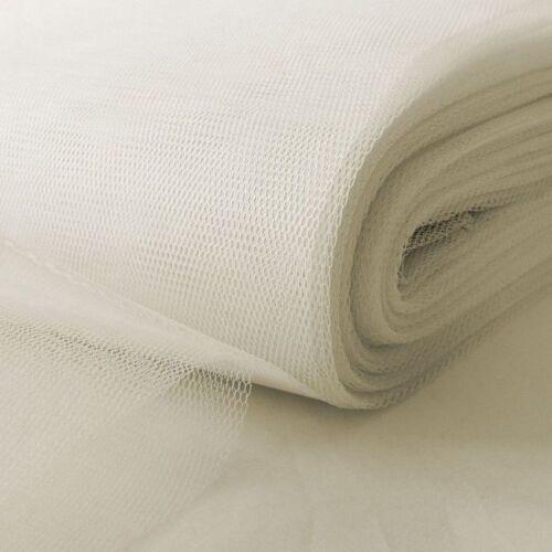 Net Craft mariage Tutu Maille Tissu fête 1 m x 150 cm de largeur-Extra Stiff-Blanc