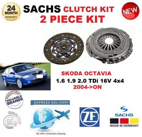 FOR SKODA OCTAVIA 1.6 1.9 2.0 TDi 16V 4x4 2004-/> SACHS 2 PIECE NEW CLUTCH KIT