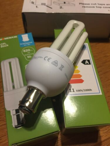 6x 11w 47w SBC B15 Push In Small Bayonet Energy Saver Mini Stick Bulb Lamp X 6