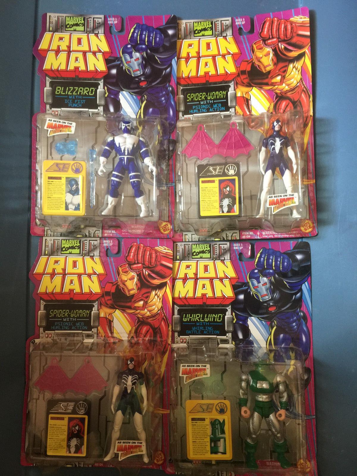 Iron Iron Iron Man action figure bundle Spiderwoman (2), Whirlwind, Blizzard 1037d8