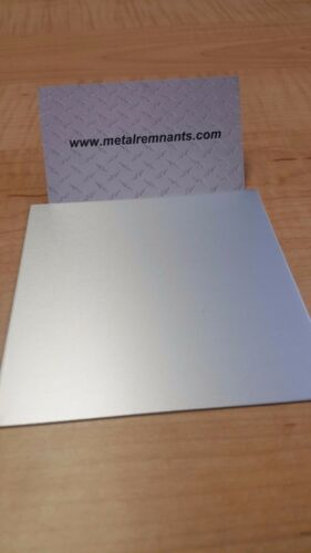 """set of 4 .063 Clear Anodized Aluminum Plate Sheet Plate 6/"""" x 6/"""""""