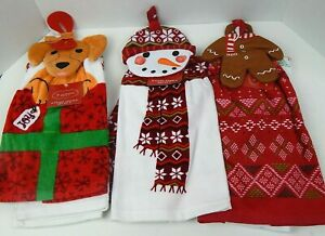 St-Nicholas-Square-2-Piece-Set-Kitchen-Towels-Tie-Top-Christmas-Holiday-Choice