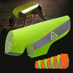 Hi-Vis-Viz-Dog-Safety-Vest-Reflective-Pet-Puppy-Coat-Jacket-Small-Medium-Large