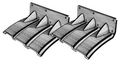 """Trimklappen /""""Auto Trim/"""" Boot 6m bis 8m Polyethylen selbsteinstellend 365x245mm"""