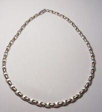 Elegante Gliederkette Gold Halskette Kette Necklace 925 Silber Bicolor Nr.242
