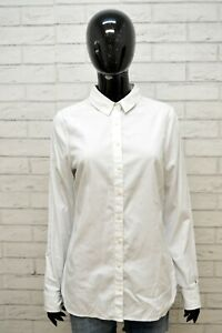Camicia-Bianca-Donna-TOMMY-HILFIGER-Polo-Taglia-S-Maglia-Shirt-Woman-White