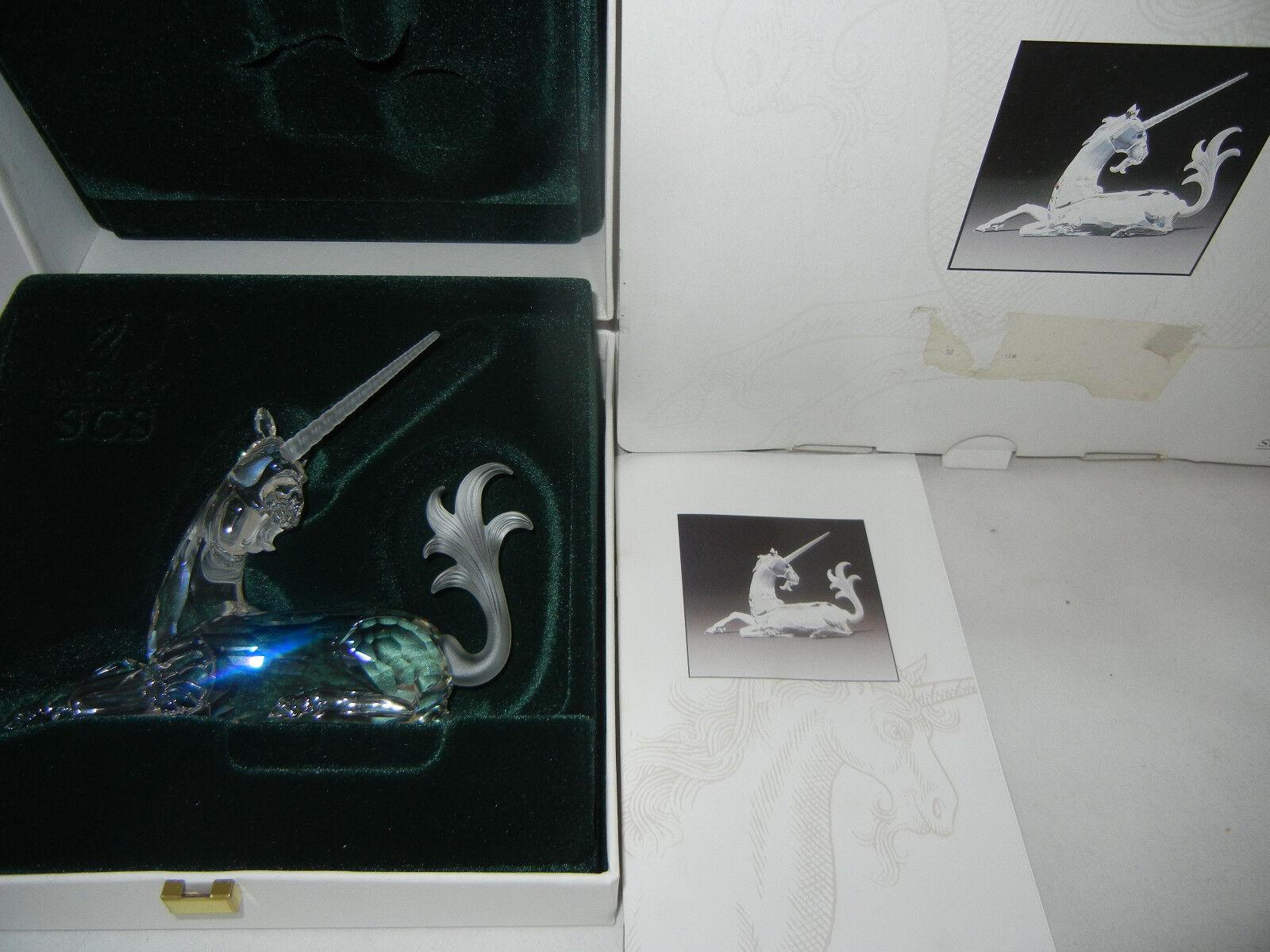 SWAROVSKI anni personaggio 1996 Unicorno con confezione originale (la mia POS-N. 8)