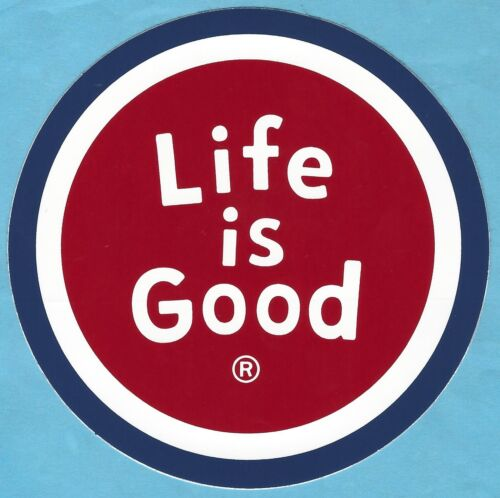 """NEW LIFE IS GOOD 4/"""" STICKER DECAL...RED COIN!!"""