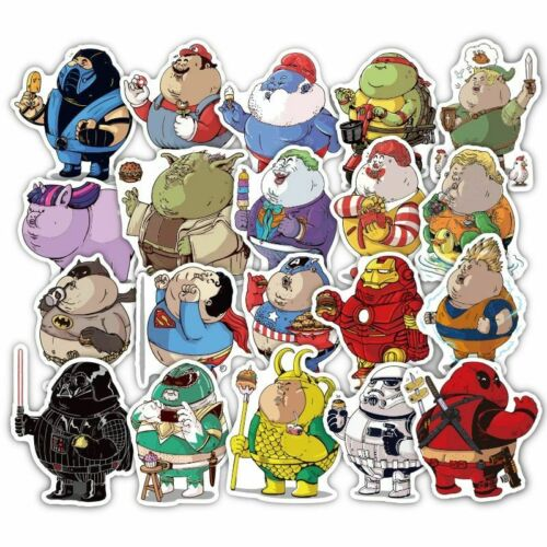 32 Pcs//lot Cute Fat Hero Funny Stickers Decal For Car Laptop Bicycle Cellphone