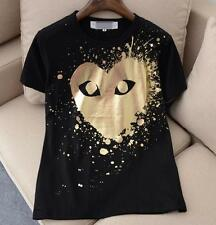 UNISEX MEN'S CDG Comme Des Garcons Tee Play Giant Golden Heart T-shirts IN MED
