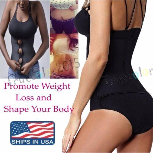 Women Zipper Body Shaper Vest Slim Waist Training Cincher Shirt Corset Shapewear