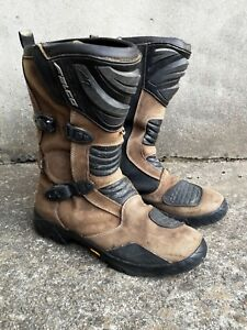 Falco-Mixto-2-Adventure-Motorcycle-Motorbike-Boots-Brown-Men-039-s-Size-EUR-46