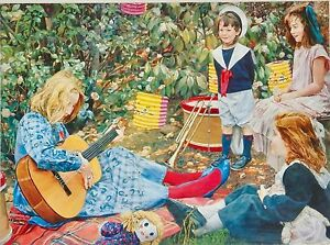 John-Lennox-Music-Lesson-Drums-Guitar-Garden-Setting-Party-Time