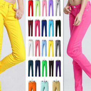 Women-039-s-Skinny-Leg-Jeggings-Pencil-Pants-Stretchy-Jeans-Trousers-Charming-Slim