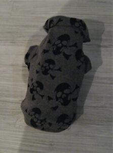 XS-S-M-Skull-Alpenfleece-Hundebekleidung-Hundemantel-Hundepulli-Hundepullover